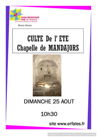 chapelle mandjors